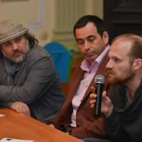 Александр Гезалов,  Роман Авдеев и Алексей Шамраев на премьере фильма «Мария»