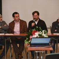 Александр Гезалов,  Роман Авдеев, Николай Лутковский и Алексей Шамраев на премьере фильма «Мария»